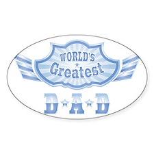Worlds Greatest Dad Emblem Decal
