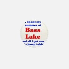 summer @ bass lake tshirt Mini Button
