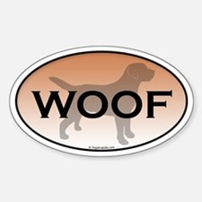 Labrador Woof Sticker (Oval)