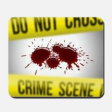 Crime Scene Spatter Mousepad