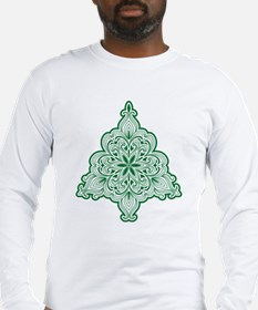 Lacy Christmas Tree Long Sleeve T-Shirt