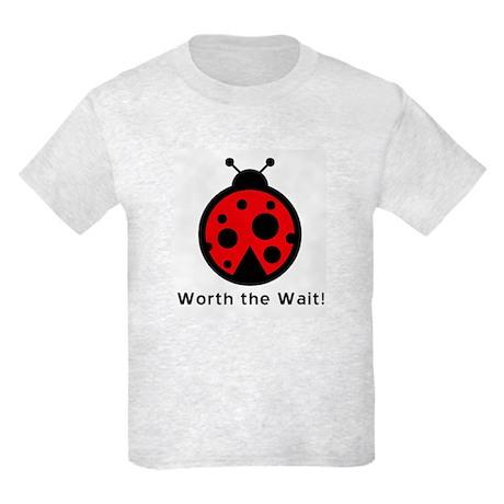 Worth the Wait Ladybug Kids Light T-Shirt