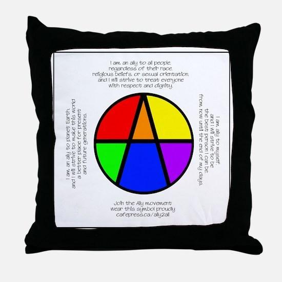 I Am An Ally Throw Pillow