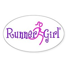 RunnerGirl Oval Sticker PPN