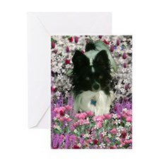 Matisse the Papillon in Flowers Greeting Card