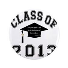 """Class Of 2013 Knowledge 3.5"""" Button"""