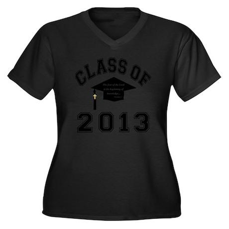 Class Of 201 Women's Plus Size Dark V-Neck T-Shirt