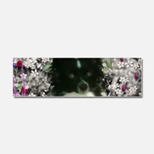 Matisse the Papillon in Flowers Car Magnet 10 x 3