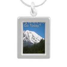 RVing Where Did You Go T Silver Portrait Necklace