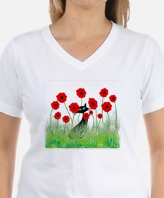 black cat poppies Shirt