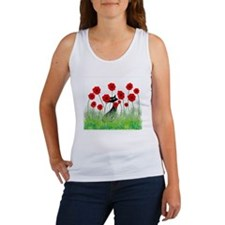 black cat poppies Women's Tank Top