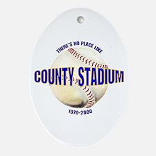 No Place Like County Oval Ornament