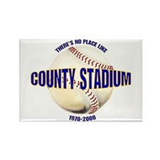 No Place Like County Rectangle Magnet
