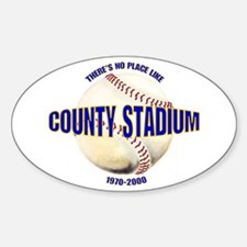 No Place Like County Oval Decal