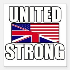 """United Strong Square Car Magnet 3"""" x 3"""""""