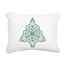 Lacy Christmas Tree Rectangular Canvas Pillow
