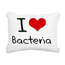 I Love Bacteria Rectangular Canvas Pillow