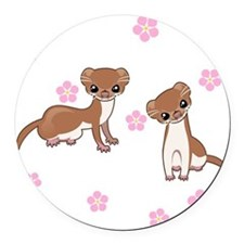 Least Weasel Round Car Magnet