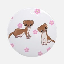 Least Weasel Round Ornament