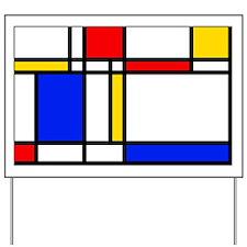 Mondrian Yard Sign