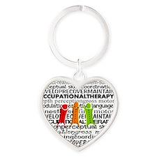 OT all over Heart Keychain
