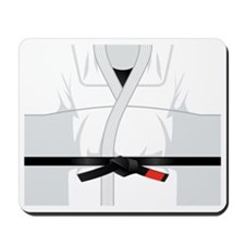 martial arts gi with black belt Mousepad