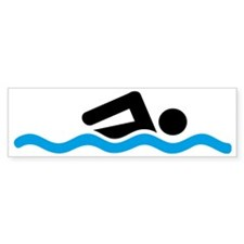 swimming Bumper Sticker
