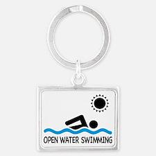 open water swimming Landscape Keychain