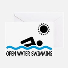 open water swimming Greeting Card