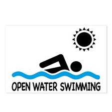 open water swimming Postcards (Package of 8)