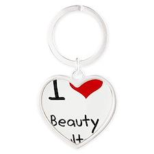 I Love Beauty Consultants Heart Keychain
