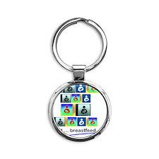 Just breastfeed Round Keychain