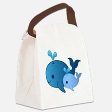 Baby Whale Canvas Lunch Bag