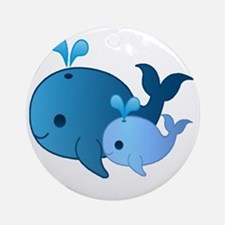 Baby Whale Round Ornament