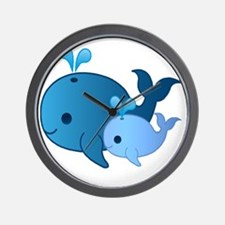 Baby Whale Wall Clock