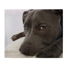 Awesome Pit Bull Face Throw Blanket