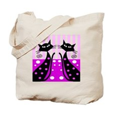 quilt whimsical cats Tote Bag