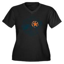 Dawson Band  Women's Plus Size Dark V-Neck T-Shirt