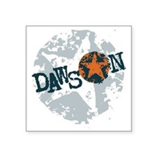 "Dawson Band Star logo Square Sticker 3"" x 3"""