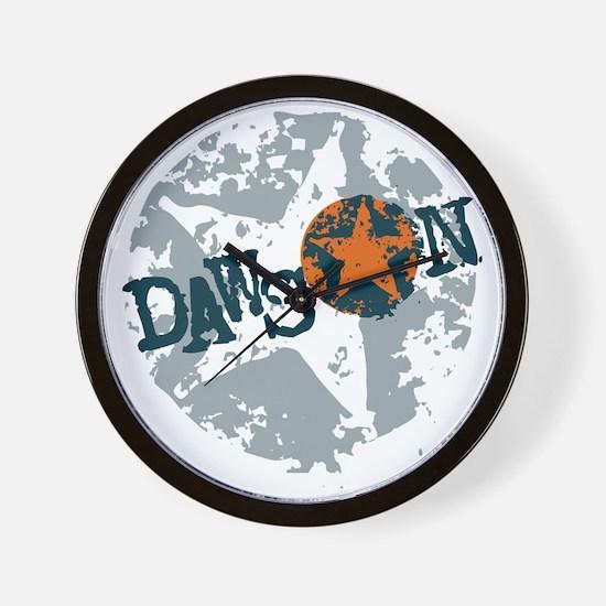 Dawson Band Star logo Wall Clock