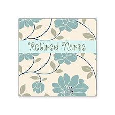 "Retired Nurse Pillow 10 Square Sticker 3"" x 3"""