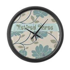Retired Nurse Pillow 10 Large Wall Clock