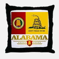 Alabama Gadsden Flag Throw Pillow