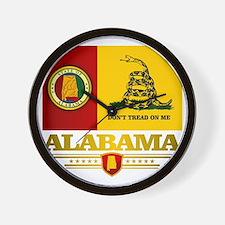 Alabama Gadsden Flag Wall Clock