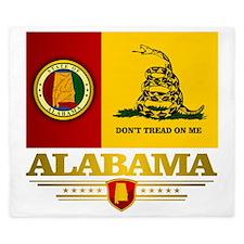 Alabama Gadsden Flag King Duvet