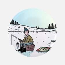 """Ice-fishing Pizza bait 3.5"""" Button"""