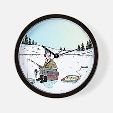 Ice-fishing Pizza bait Wall Clock