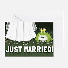 justmarriedfrog Greeting Card