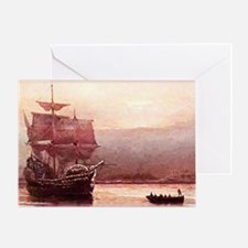 Mayflower in the Hudson Greeting Card