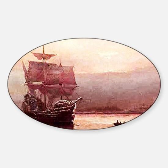 Mayflower in the Hudson Sticker (Oval)